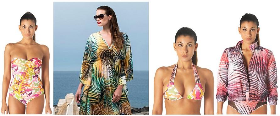 Ispirazioni esotiche e colori brillanti nella collezione Beachwear di Parah