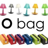 O bag debutta nell'home design con la lampada O joy e il portavivande O eat