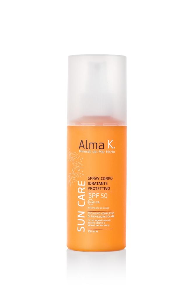 Spray Corpo Idratante Protettivo Alma K Sun Care SPF 50