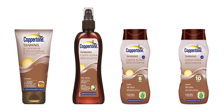 Solari Coppertone, per una pelle protetta e abbronzata a lungo