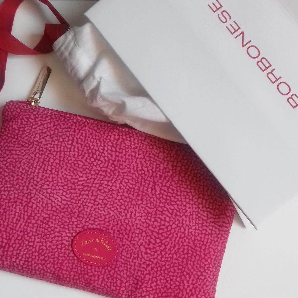 Pochette rosa Borbonese, Chicco di felicità 2017