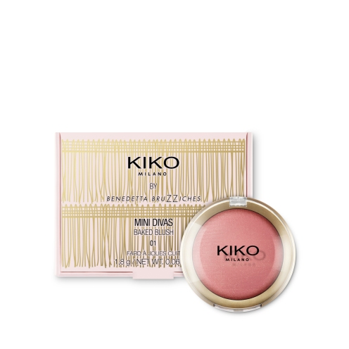 Baked Blush Mini Divas Kiko 01 Outstanding Cherry Flower