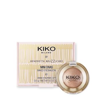Baked Eyeshadow Mini Divas Kiko 01 Balanced Champagne