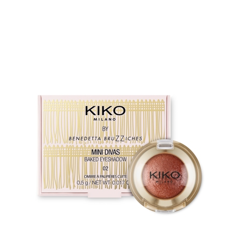 Baked Eyeshadow Mini Divas Kiko 02 Radiant Copper