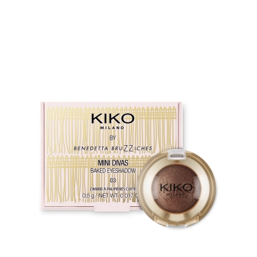 Baked Eyeshadow Mini Divas Kiko, 03 Ritual Golden Brown
