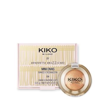 Baked Eyeshadow Mini Divas Kiko 04 Gleaming Gold