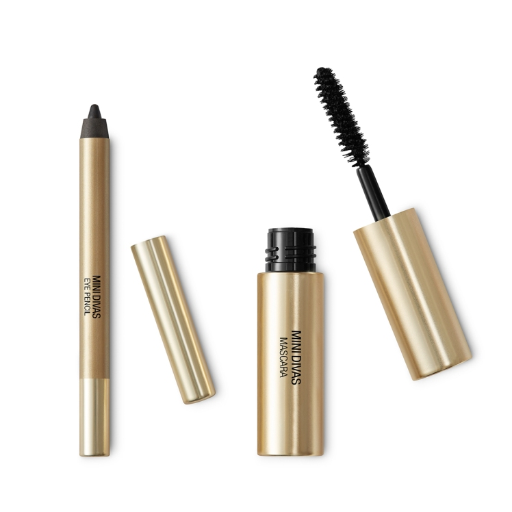Kit Mascara e Eyeliner Mini Divas