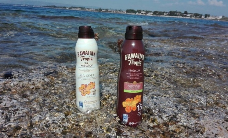 Solari Hawaiian Tropic Air Soft Silk Hydration e Protective Oil C-Spray