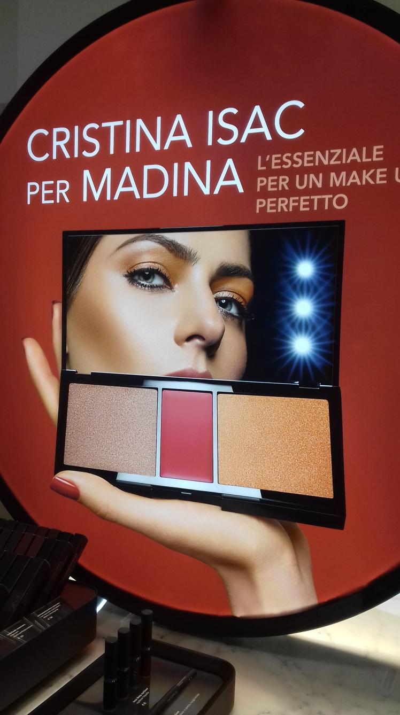 Palette Luminous Shine Cristina Isac per Madina, presentazione a Milano