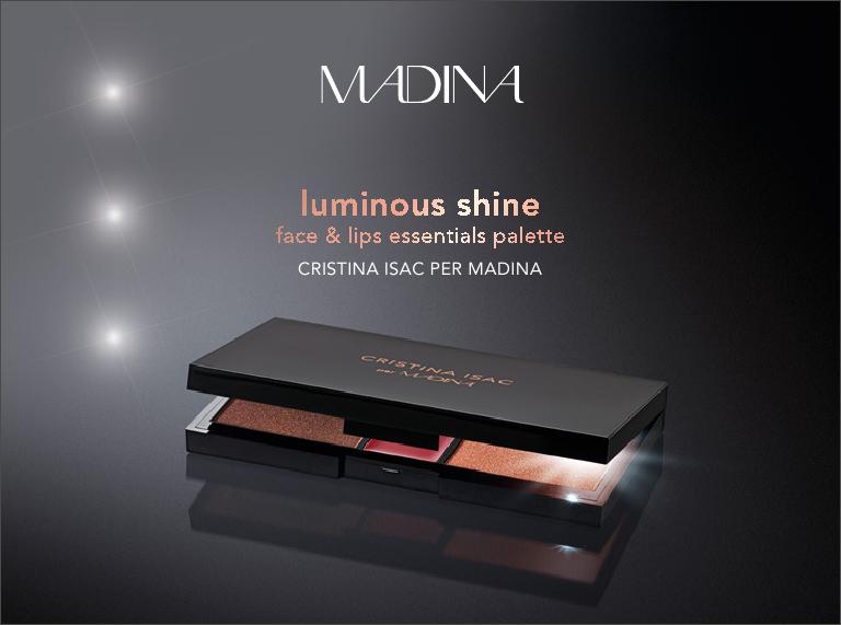 Palette Luminous Shine, Cristina Isac per Madina