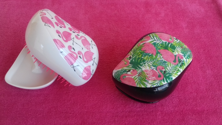 Compact Styler Tangle Teezer, Skinny Dip Pink Flamingo e Palm Flamingo
