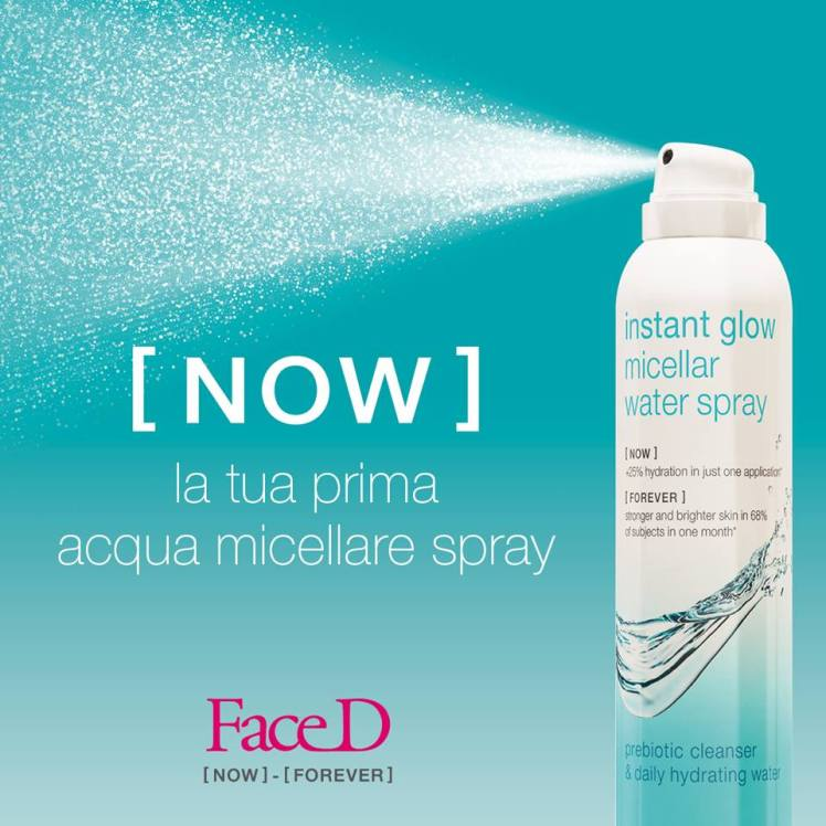 Instant glow micellar water spray di FaceD