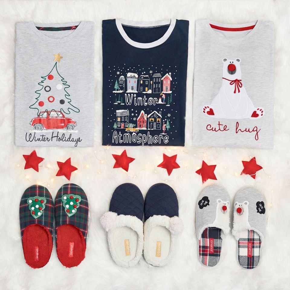 Collezione Yamamay Natale 2017, pigiami e pantofole