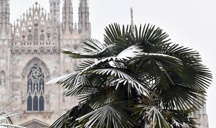 Milano sotto la neve, marzo 2018