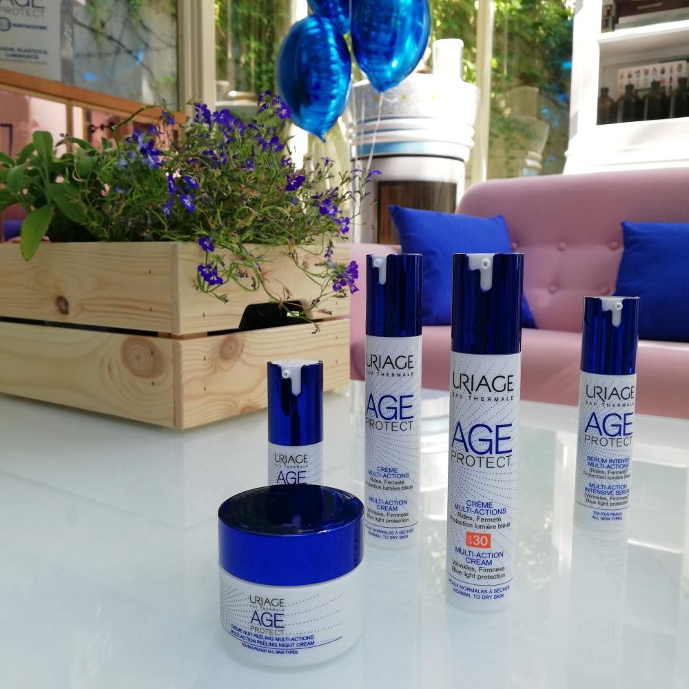 Uriage Age Protect, una linea completa contro inquinamento e luce blu