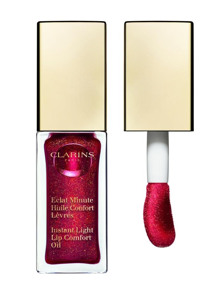 Eclat Minute Huile Confort Lèvres Clarins, Red Berry olio per labbra