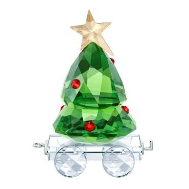 Decorazione feste Swarovski vagone albero Natale