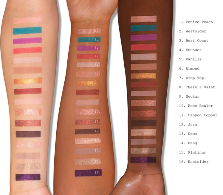 swatches palette l.a. cover shot eyes Smashbox