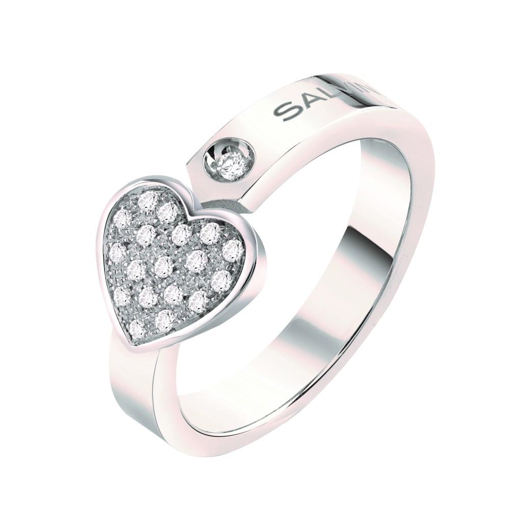 Anello Salvini cuore diamanti