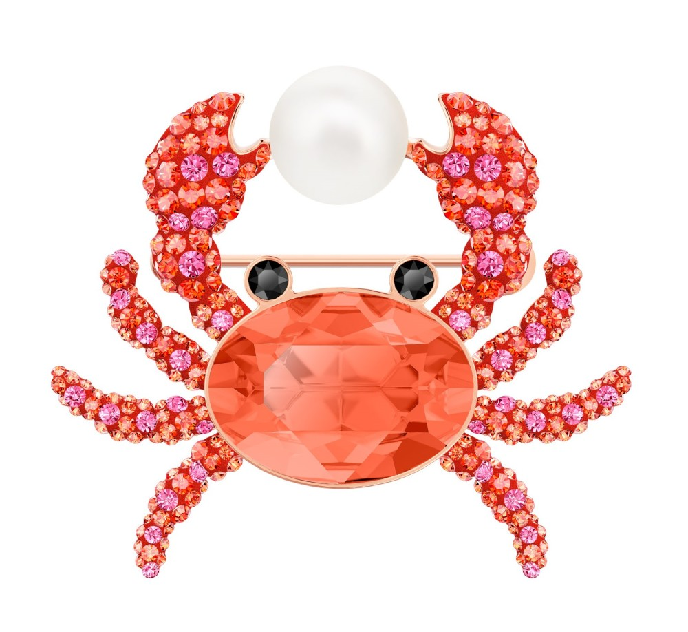 spilla Swarovski estate Ocean Crab granchio