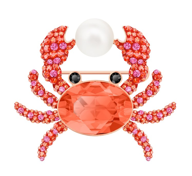 spilla Swarovski estate Ocean Crab granchio