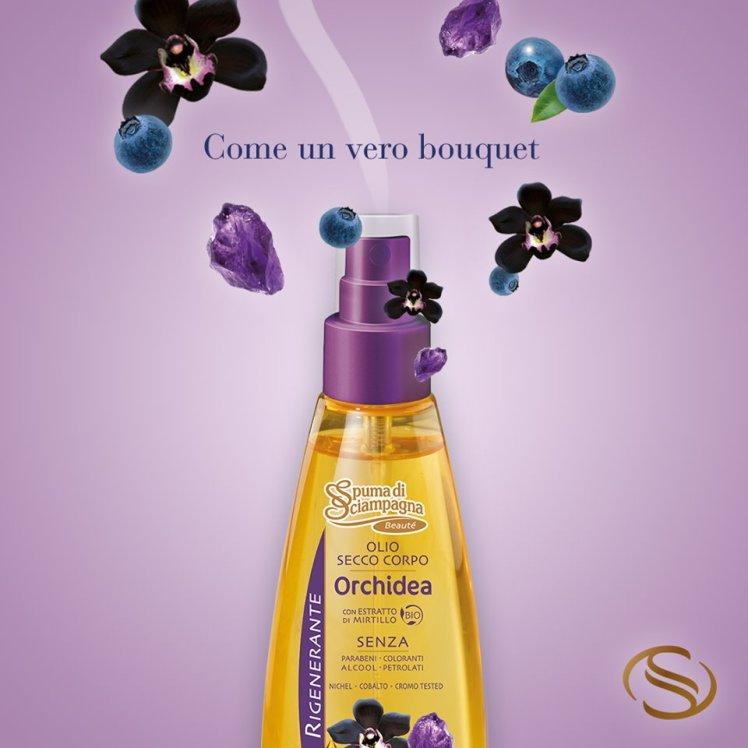 Olio secco corpo orchidea