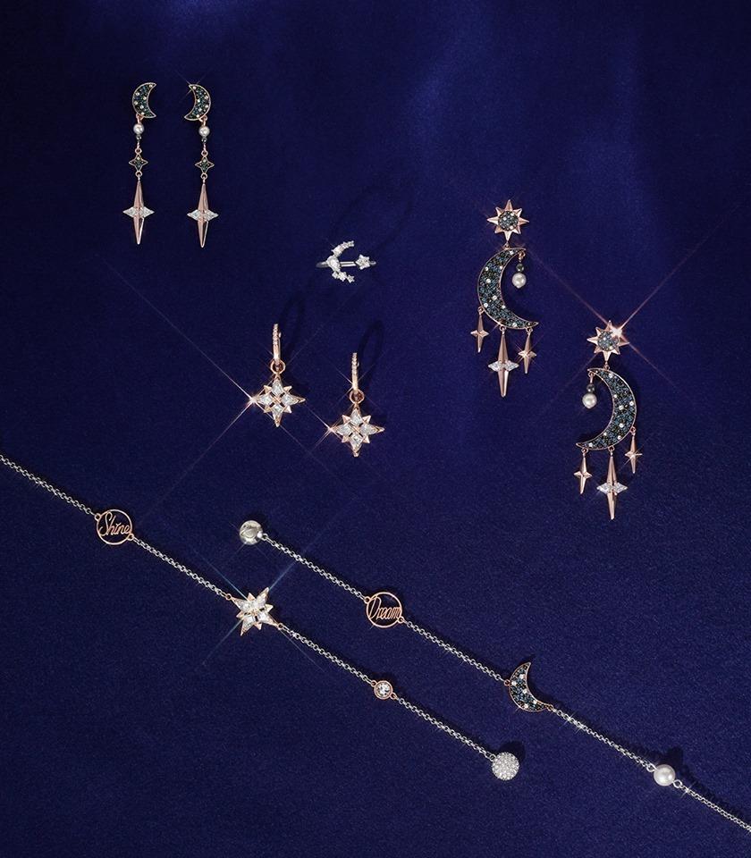 Cristalli Swarovski inverno luna stelle