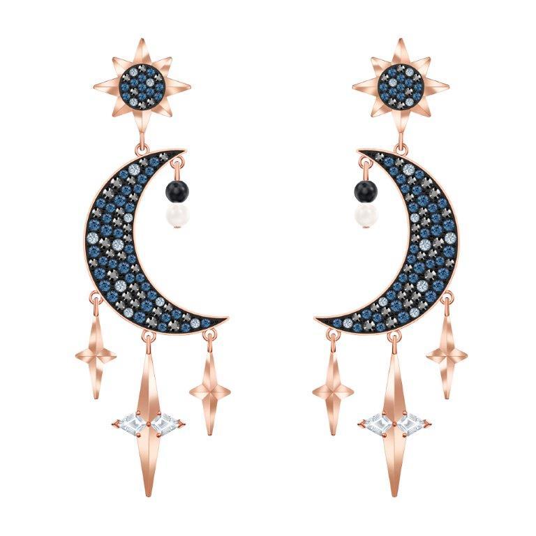 Orecchini cristalli Swarovski luna stelle