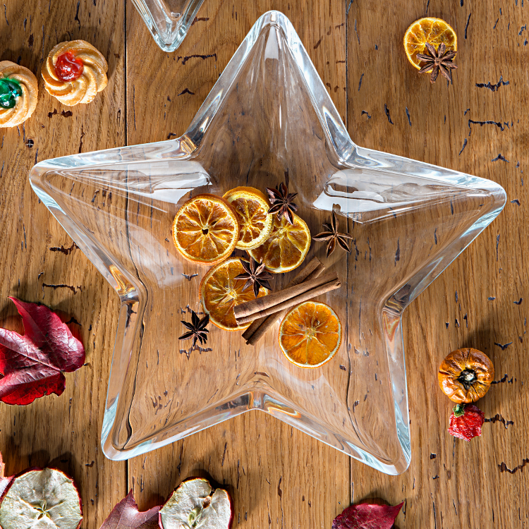 Centrotavola delle feste di vetro a forma di stella