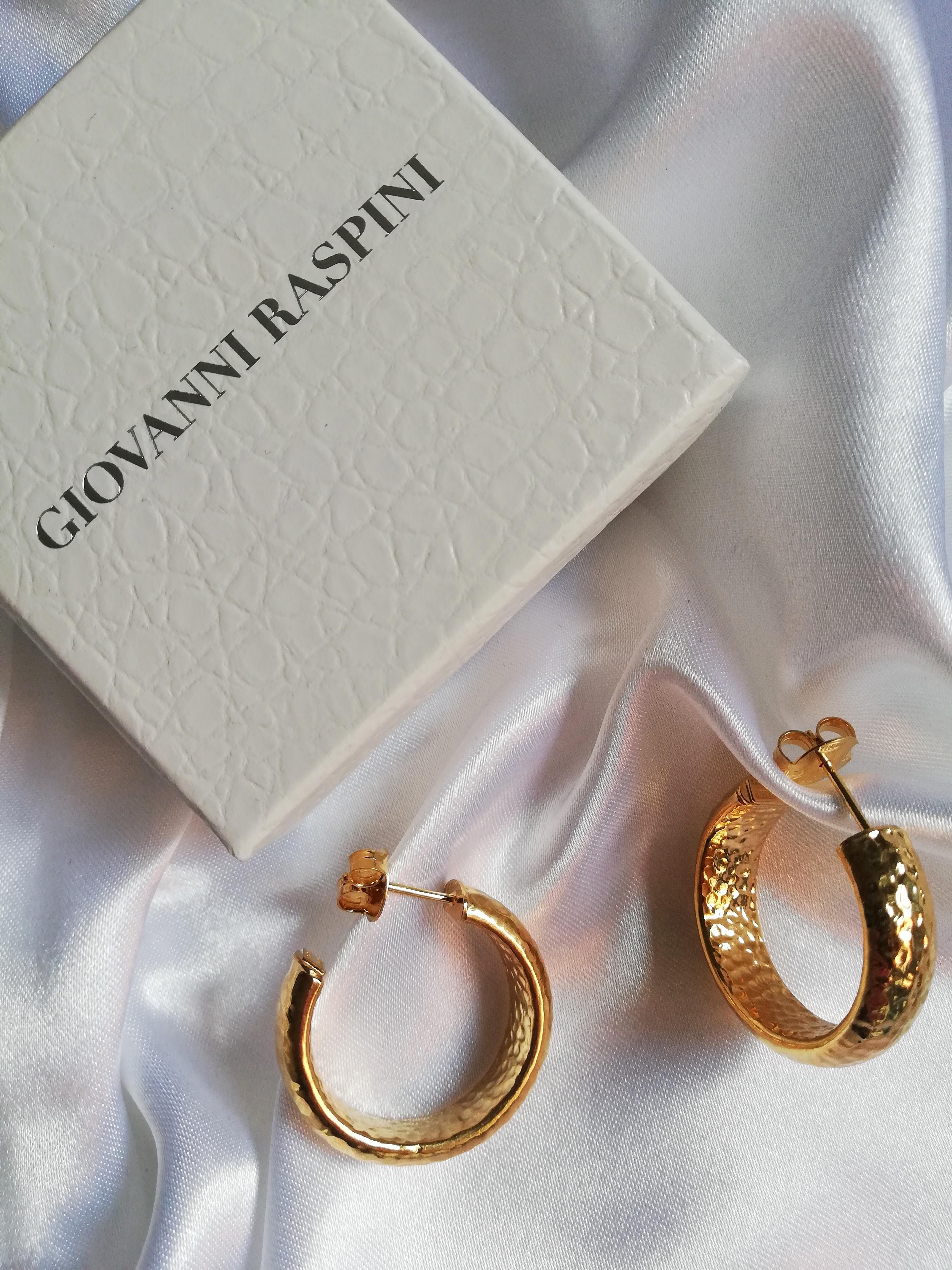 Orecchini a cerchio in argento dorato Giovanni